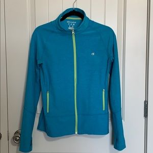 Champion. Athletic zip up. Small. Blue and yellow